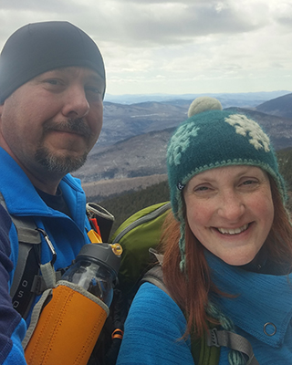 Craig and his wife hiking in New Hampshire